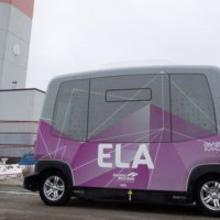 Take a spin on the city's first electronic autonomous vehicle
